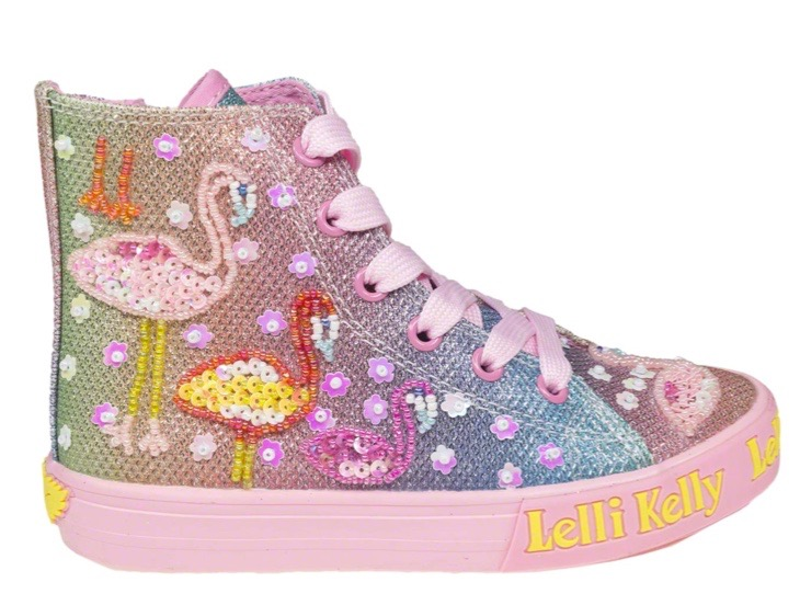 Flamingo baseball boots by Lelli Kelly for toddler girls