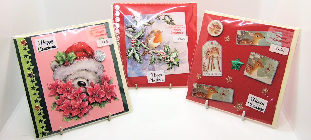 Three handmade Christmas cards - set 1