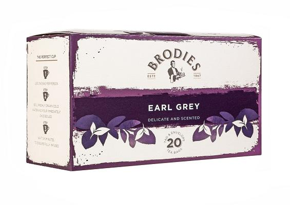Brodies Melrose Earl Grey.  Tag and envelope tea bags 86g
