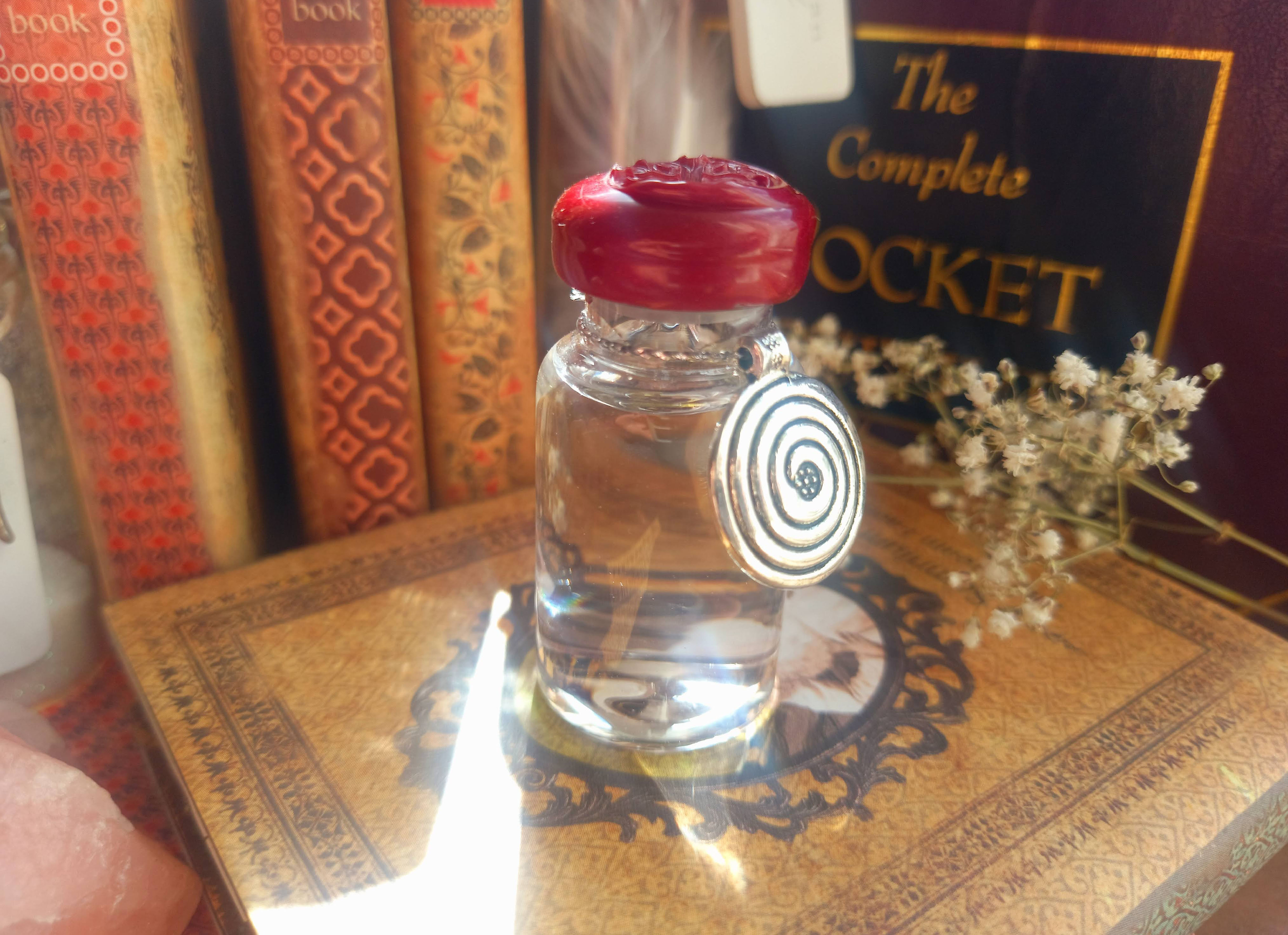 St.Brigid's Well Water Goddess Filled Glass Keepsake Vial