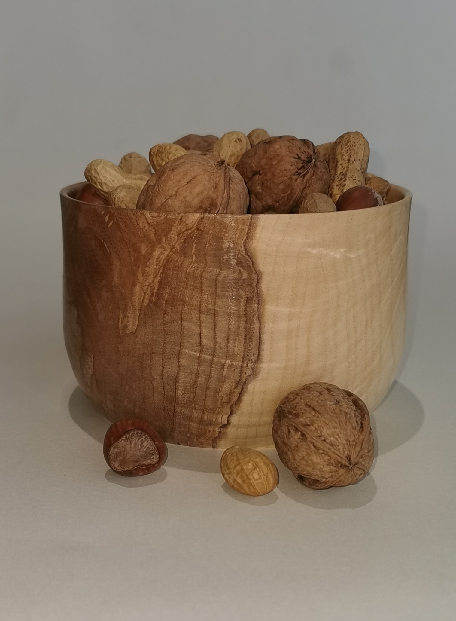 Wood Turned Olive Ash Nut/Treat Bowl