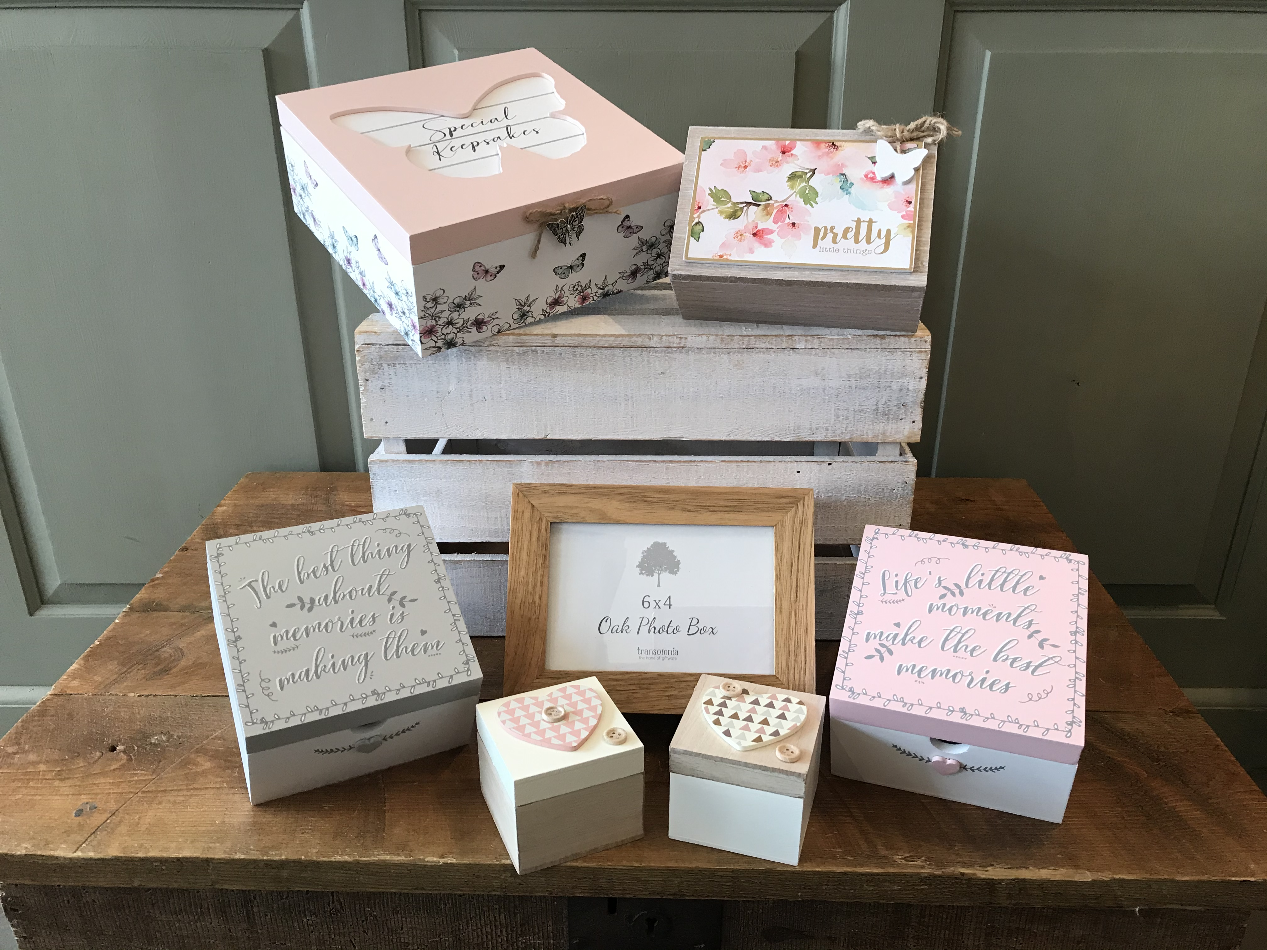 Keepsake and Memory Boxes