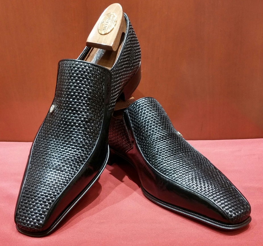 Slip-on Model 6P062 Black Printed Leather Instep