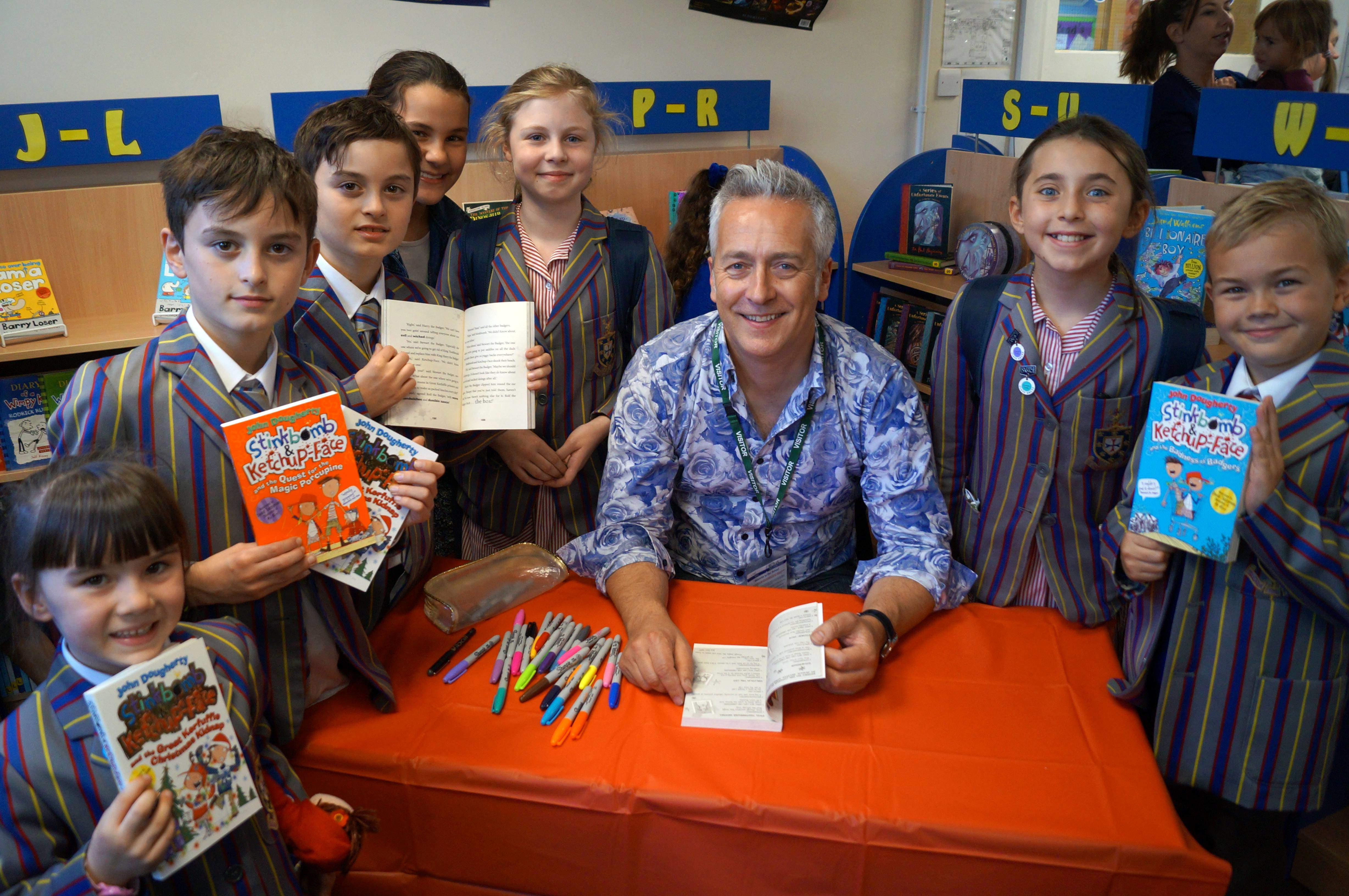 Book Signing at Kidderminster School by Celebrated Children's Author