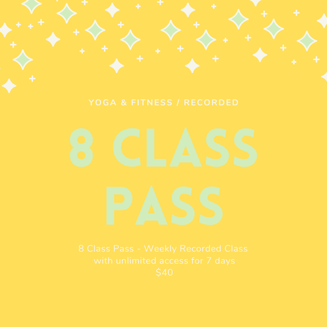 8 Class Pass - Recordings Only