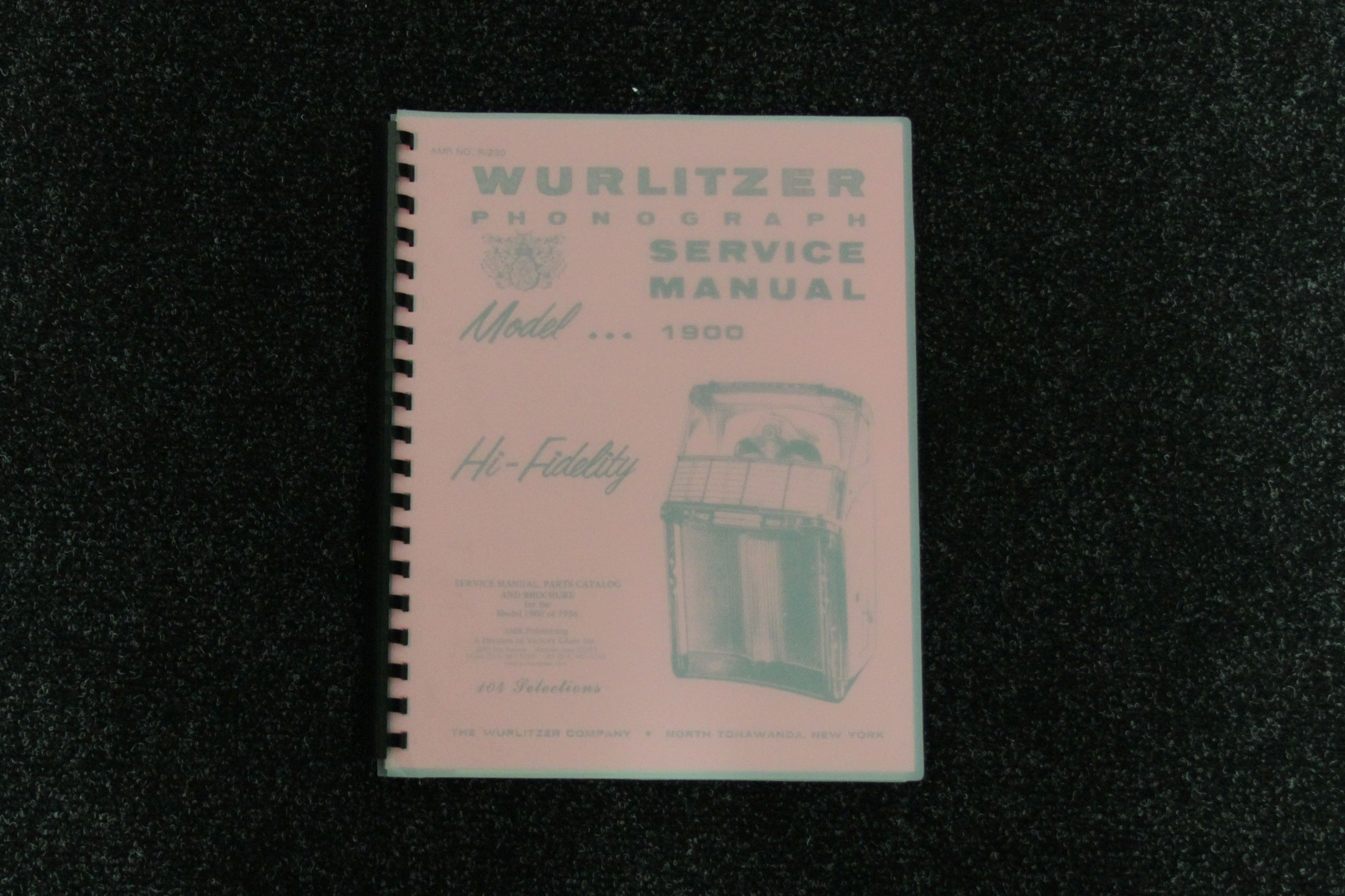 Wurlitzer Service Manual 1900