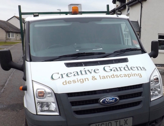The Creative Gardens work van
