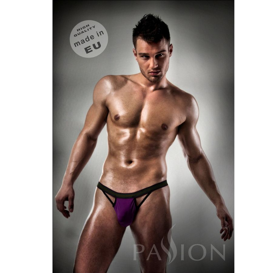 SLIP 006 MEN PURPLE CLEAR LINGERIE L/XL