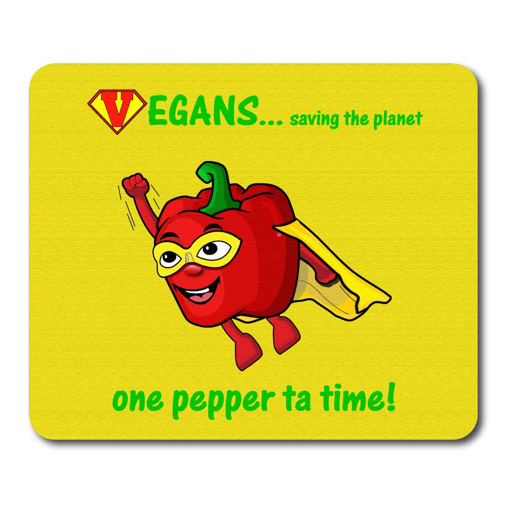 Super pepper novelty logo printed rubber mouse mats. Yellow