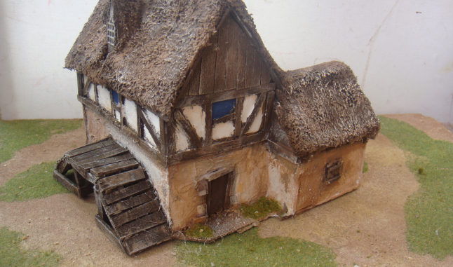 Half timbered Watermill 28mm