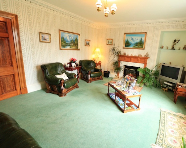 The guest lounge at East Challoch Farm B&B Dunragit, Stranraer