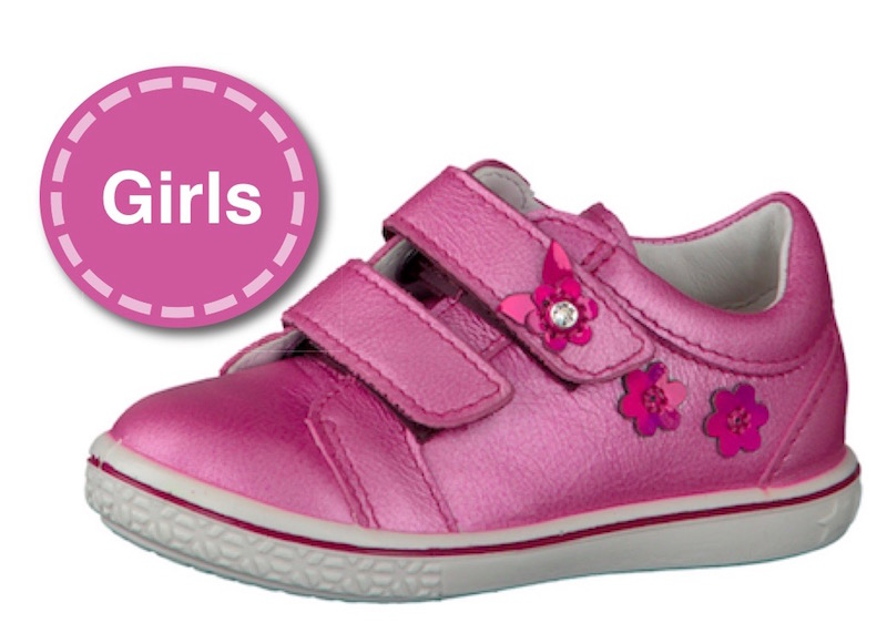 Girls shoes at The Pied Piper Children's Show Shop in Dumfries