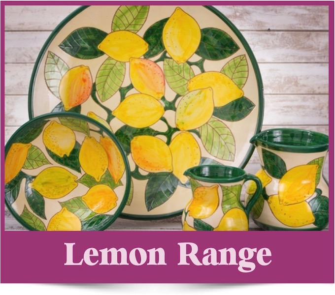 Lemons Design Spanish Ceramics from Brambles Deli Kirkcudbright