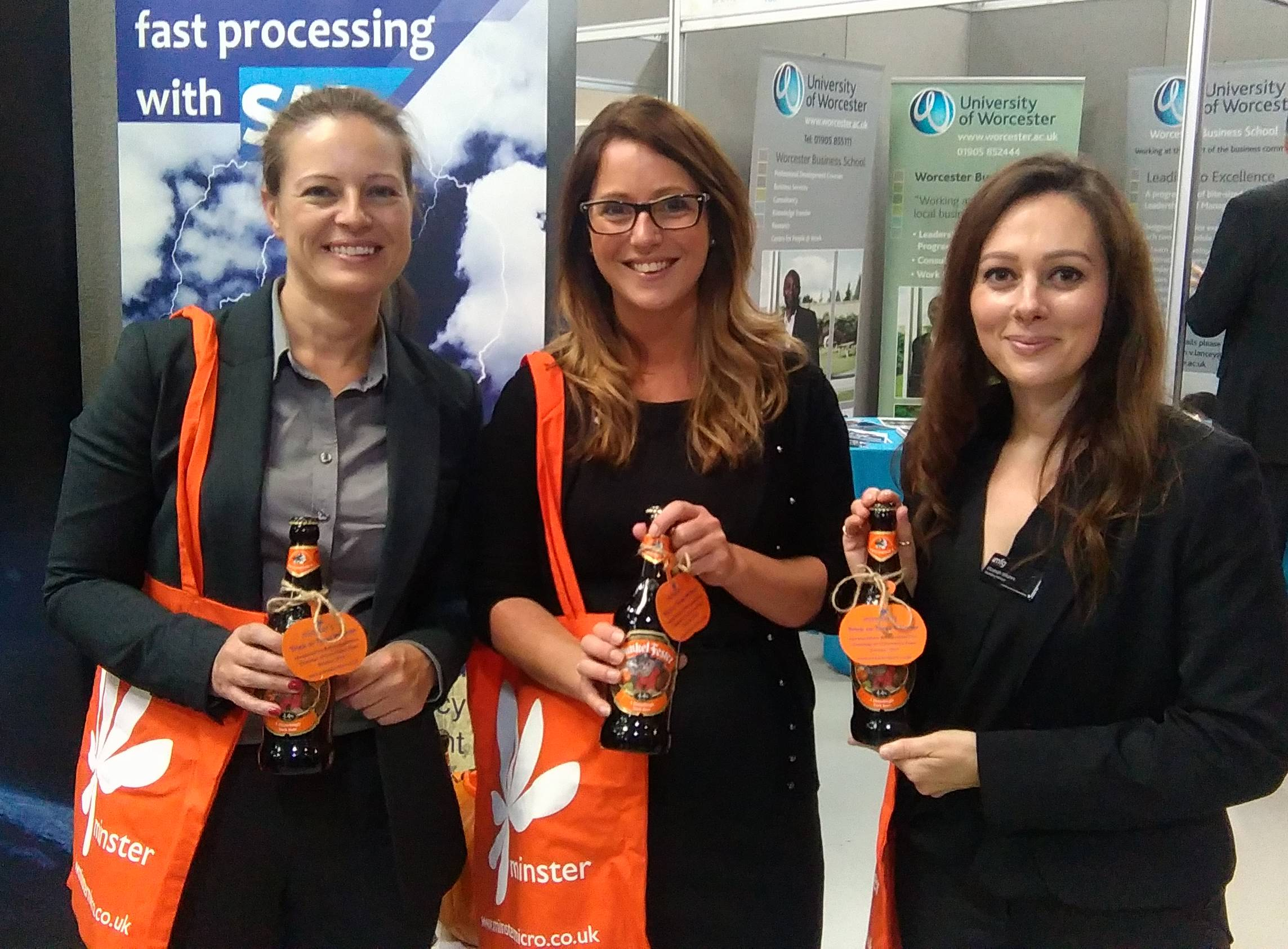 Business Expo Visitors Win Minster Micro Halloween Treats
