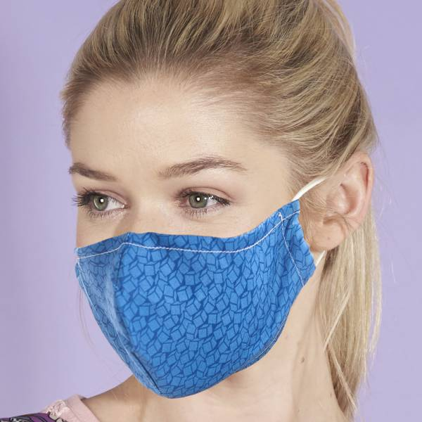 BLUE Eco Chic Reusable Face Cover