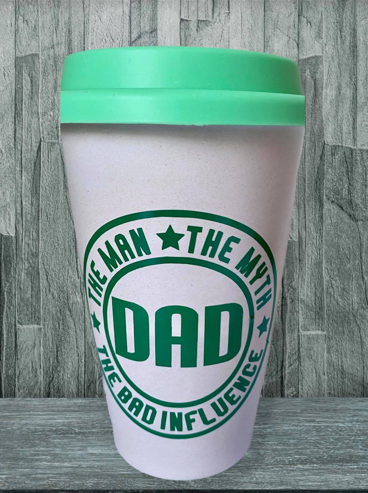 """ The Man The Myth The Legend Dad"" Travel Mug."