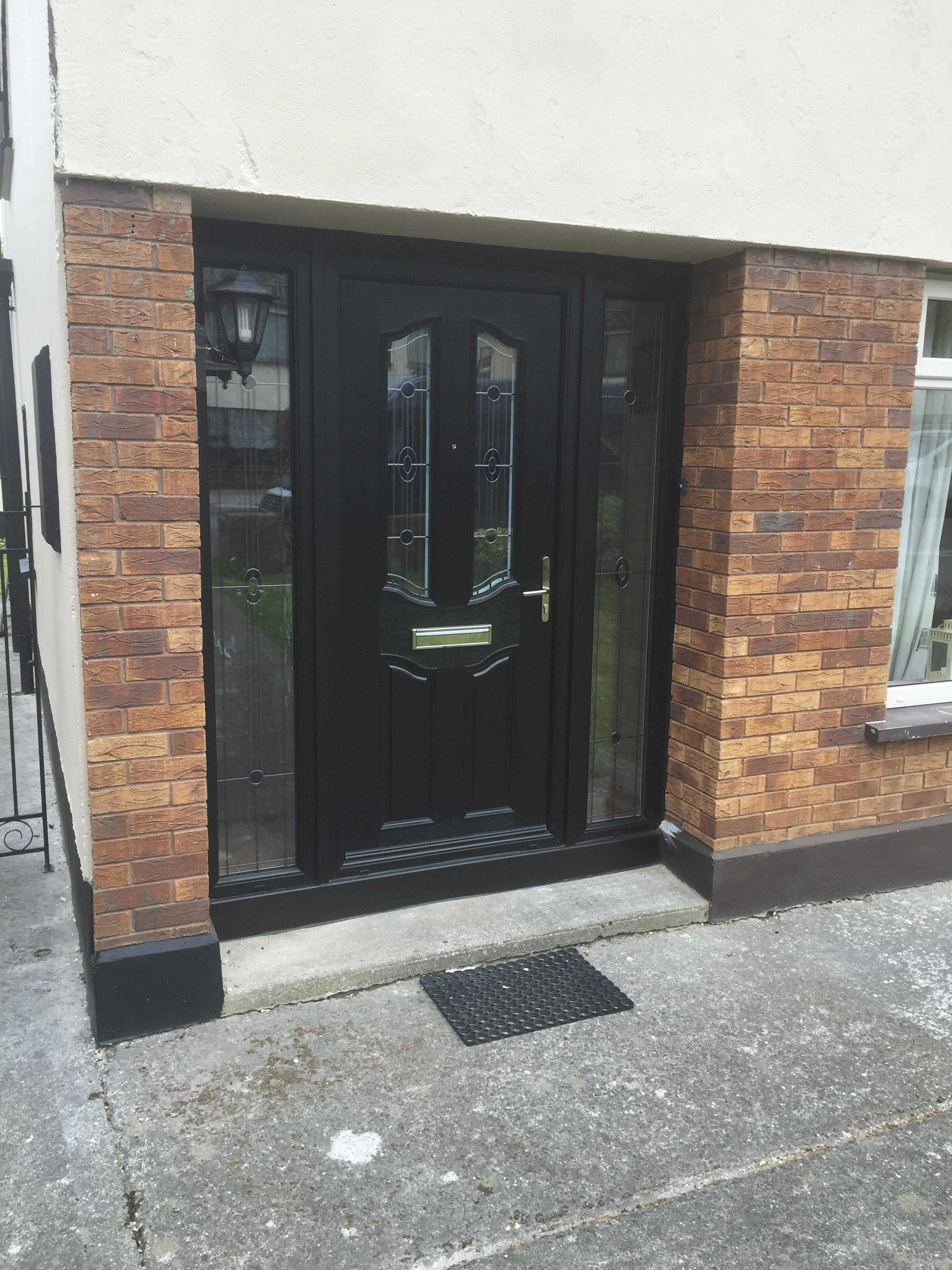BLACK APEER APL2 COMPOSITE FRONT DOOR FITTED BY ASGARD WINDOWS IN DUBLIN.