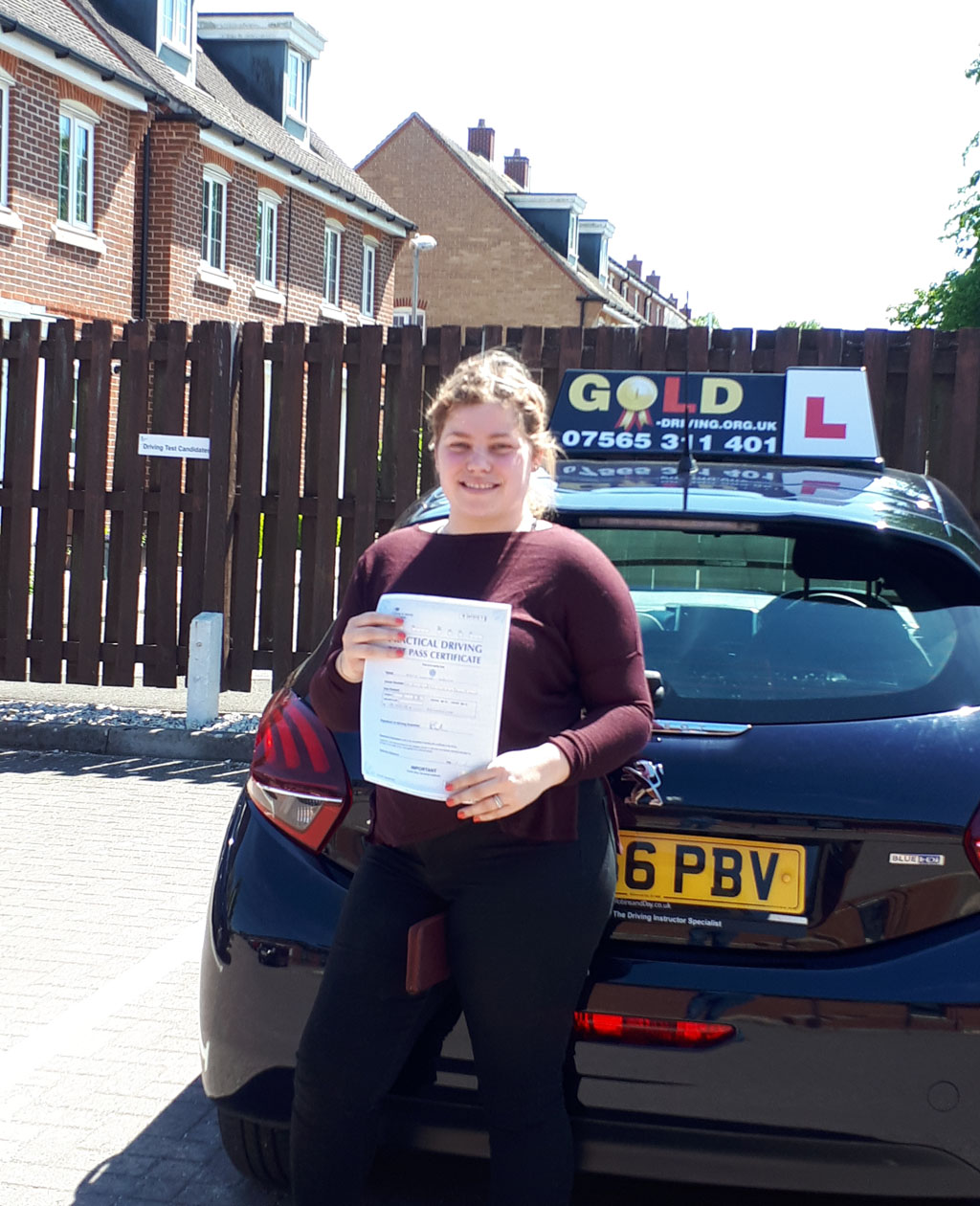 another first time pass for Gold Driving!