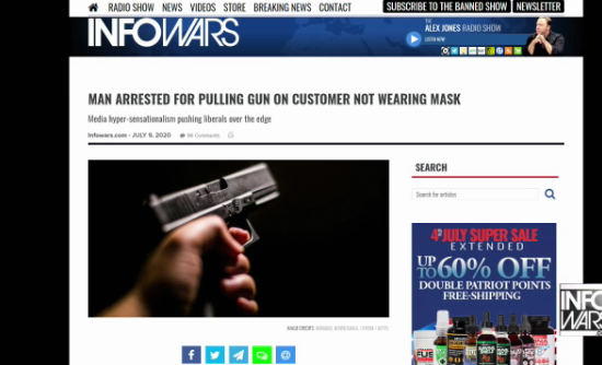 pulling guns on people not wearing maskpng