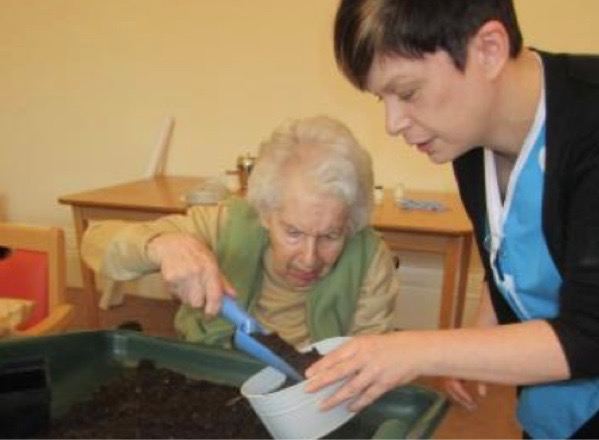 Residents at Richmond House residential care home in Crieff take part in a range of activities