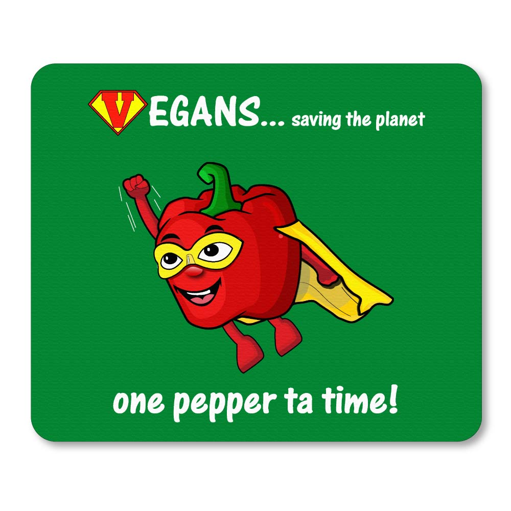 Super pepper novelty logo printed rubber mouse mats. Green
