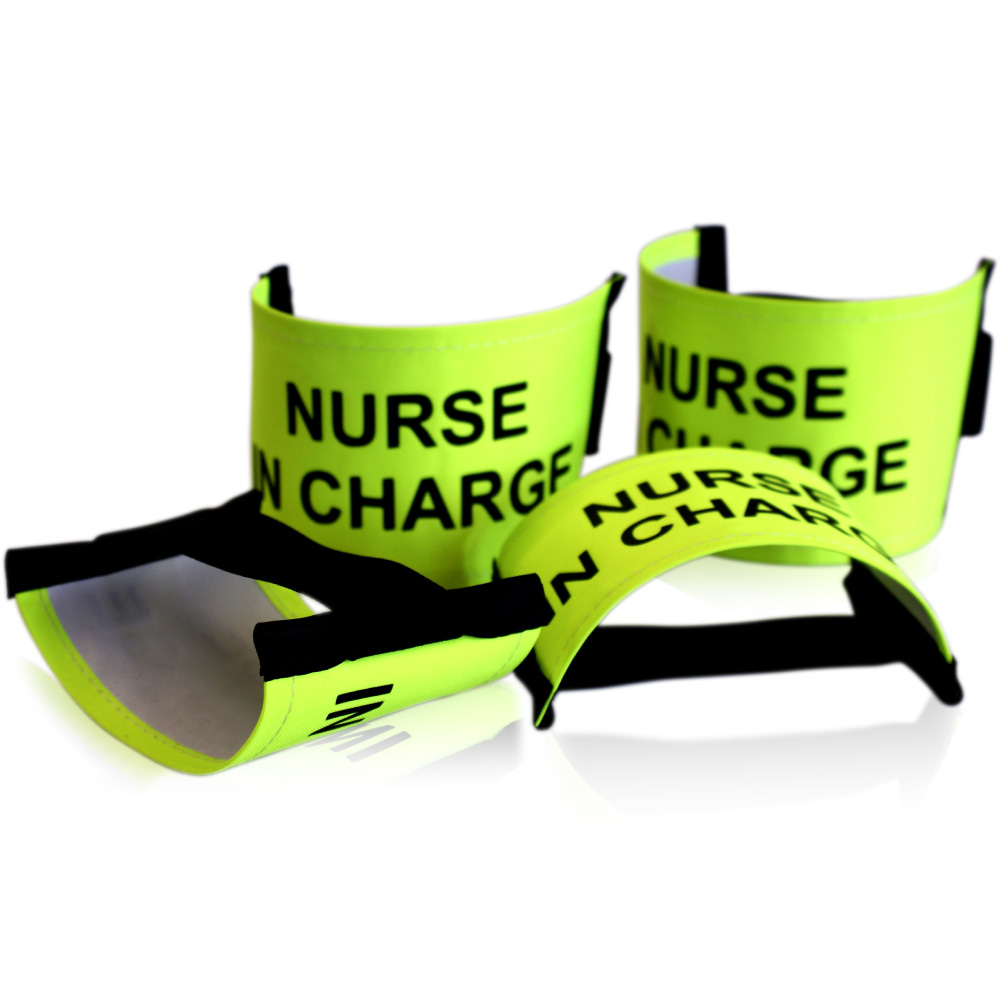 Nurse In Charge Nylon Armband with Fixed Elastic Closing