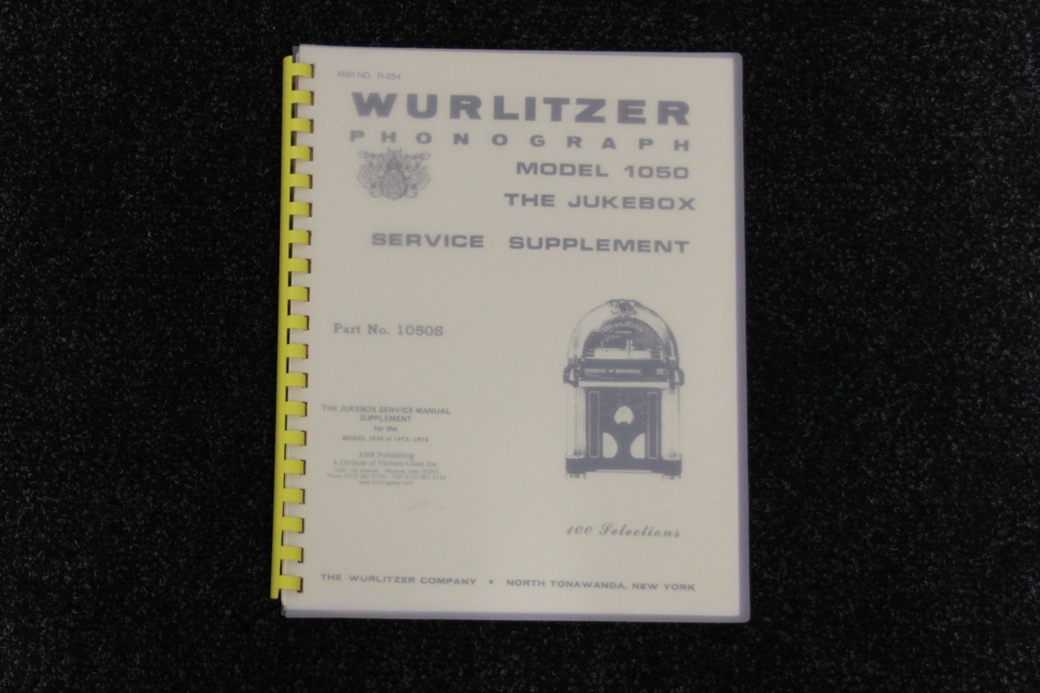 Wurlitzer Service Manual 1050S