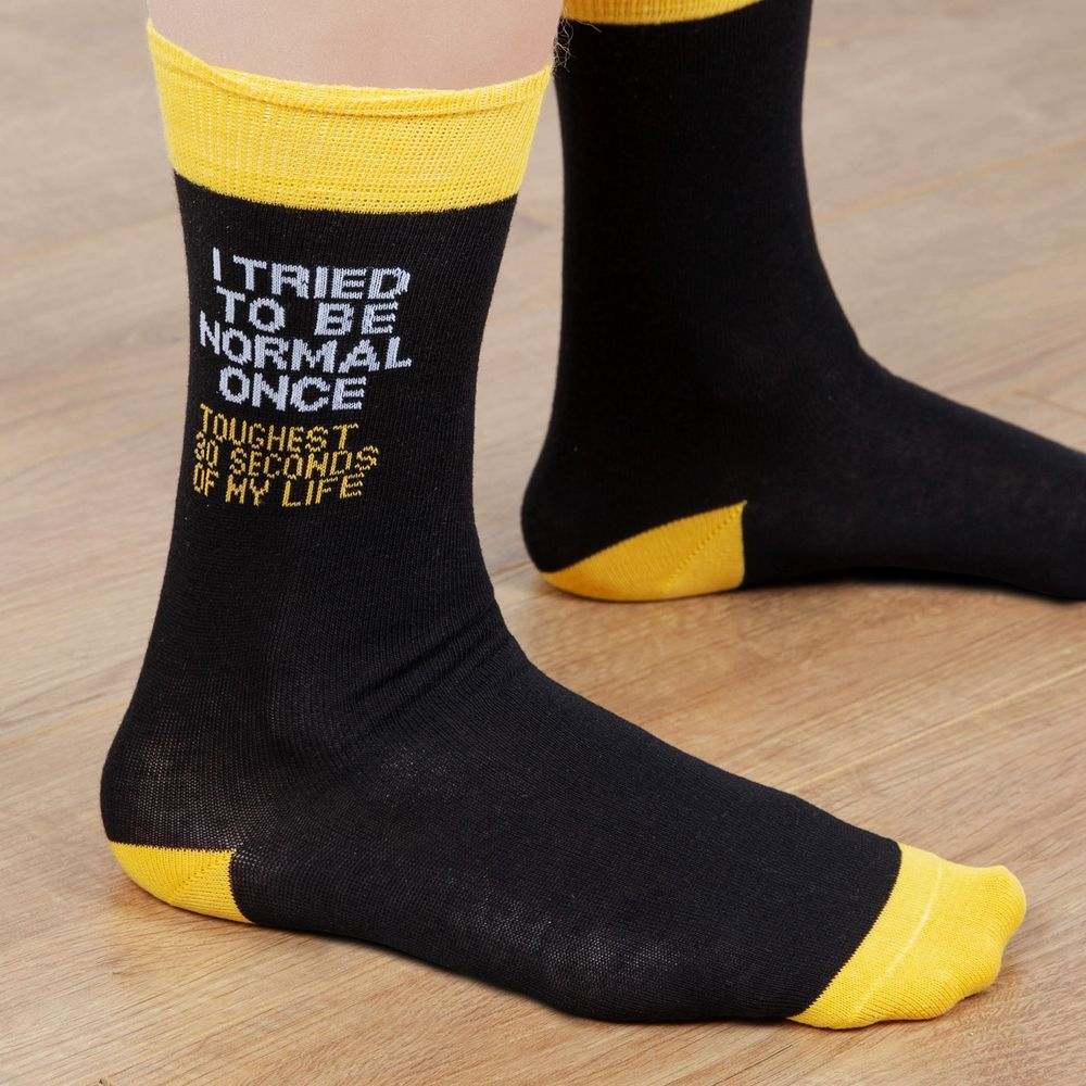 'I Tried To Be Normal Once...' Men's Socks Size 7-11