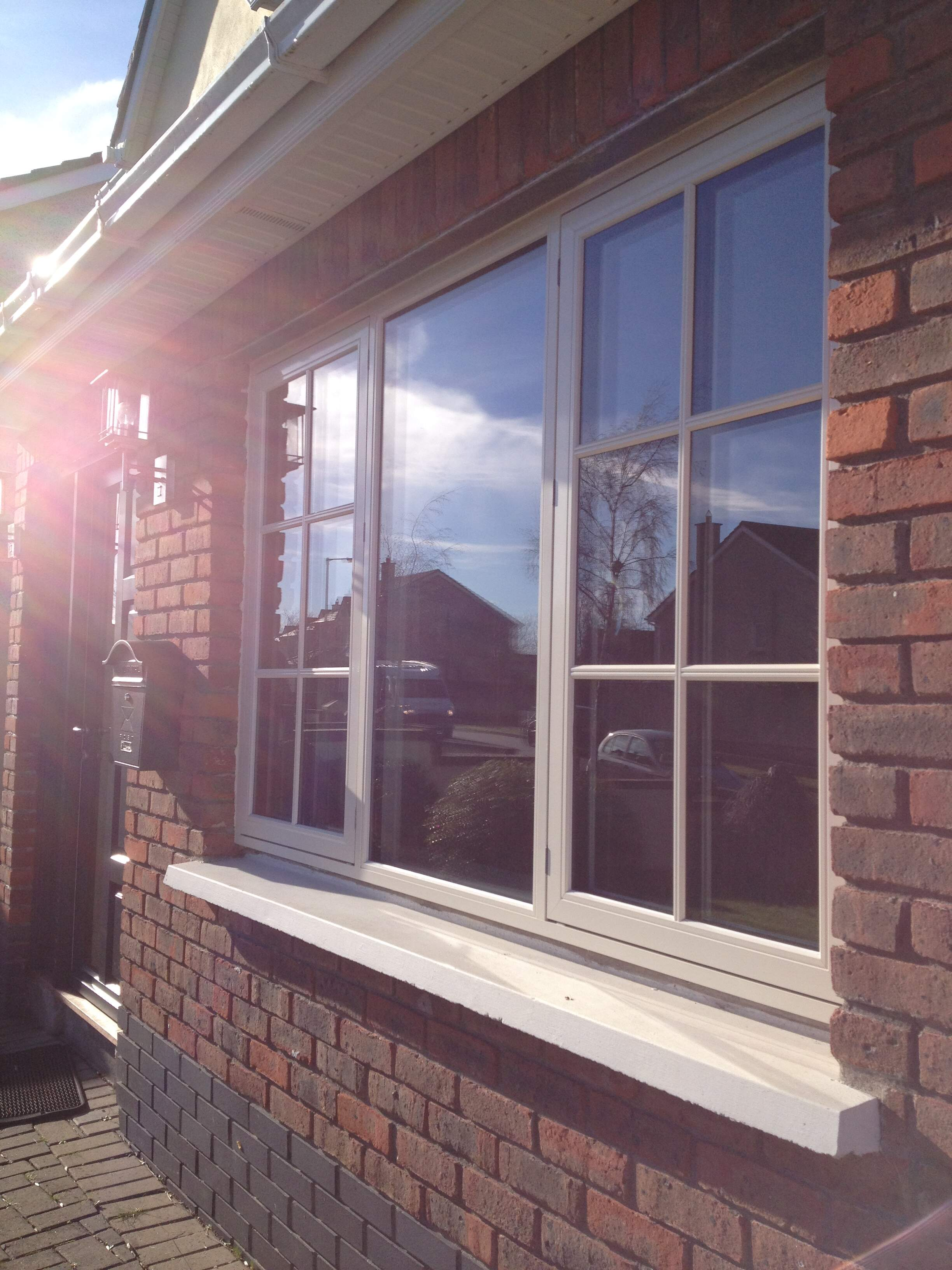 Aluminium clad triple glazed window from Kastrup windows