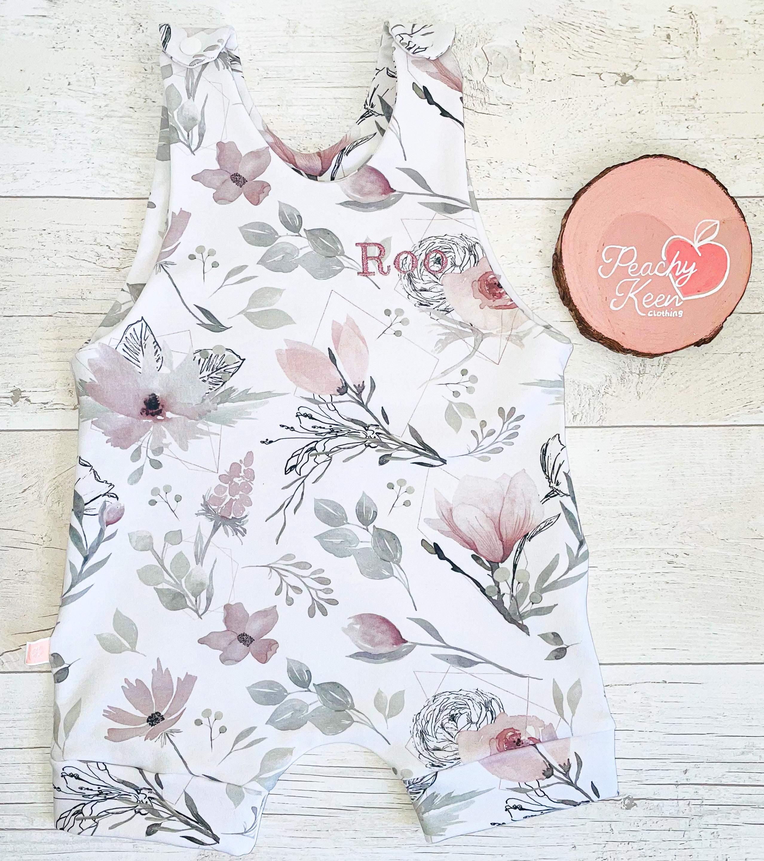 Pastel Flower Short Romper