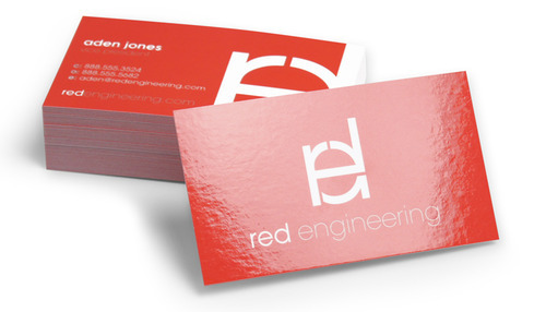 Business Cards - gloss Laminated   450gsm,  Double sided
