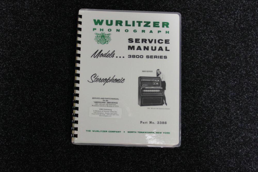 Wurlitzer Service Manual 3800 series