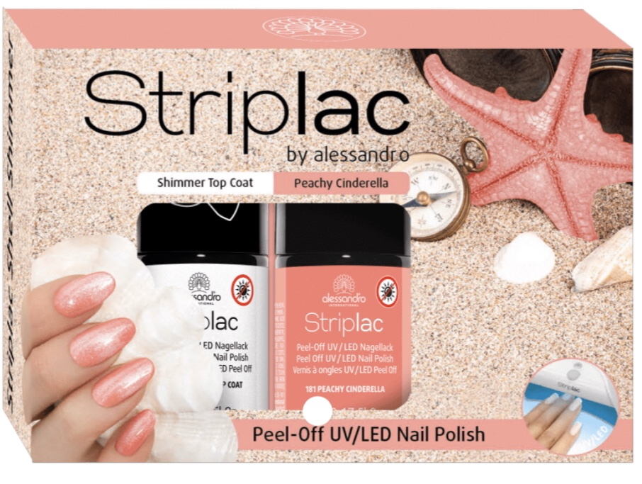 Striplac Peachy Cinderella & Shimmer Top Coat