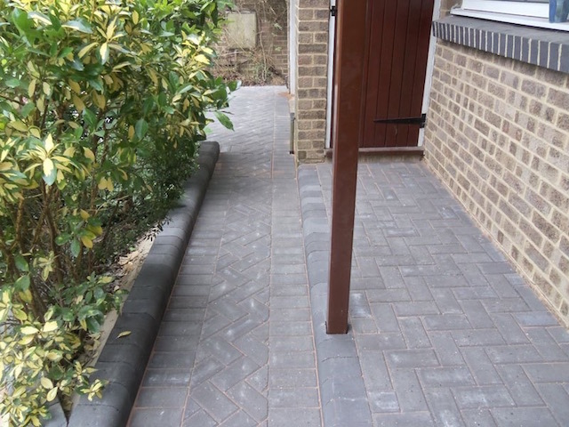 Driveway and matching porch in Datchet, near Windsor, Berkshire