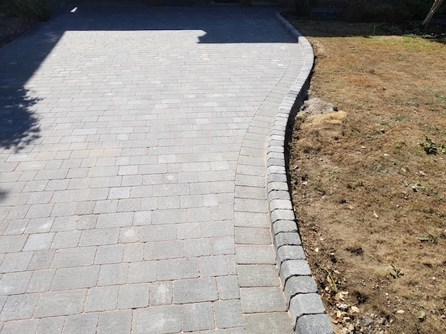 New Driveway in Alpha Charcoal Blocks by Block Paving Surrey