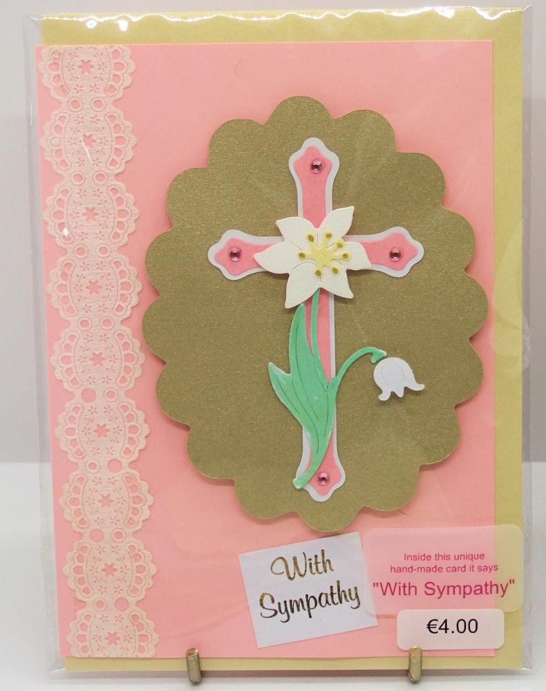 Handmade 'With Sympathy' card - 64