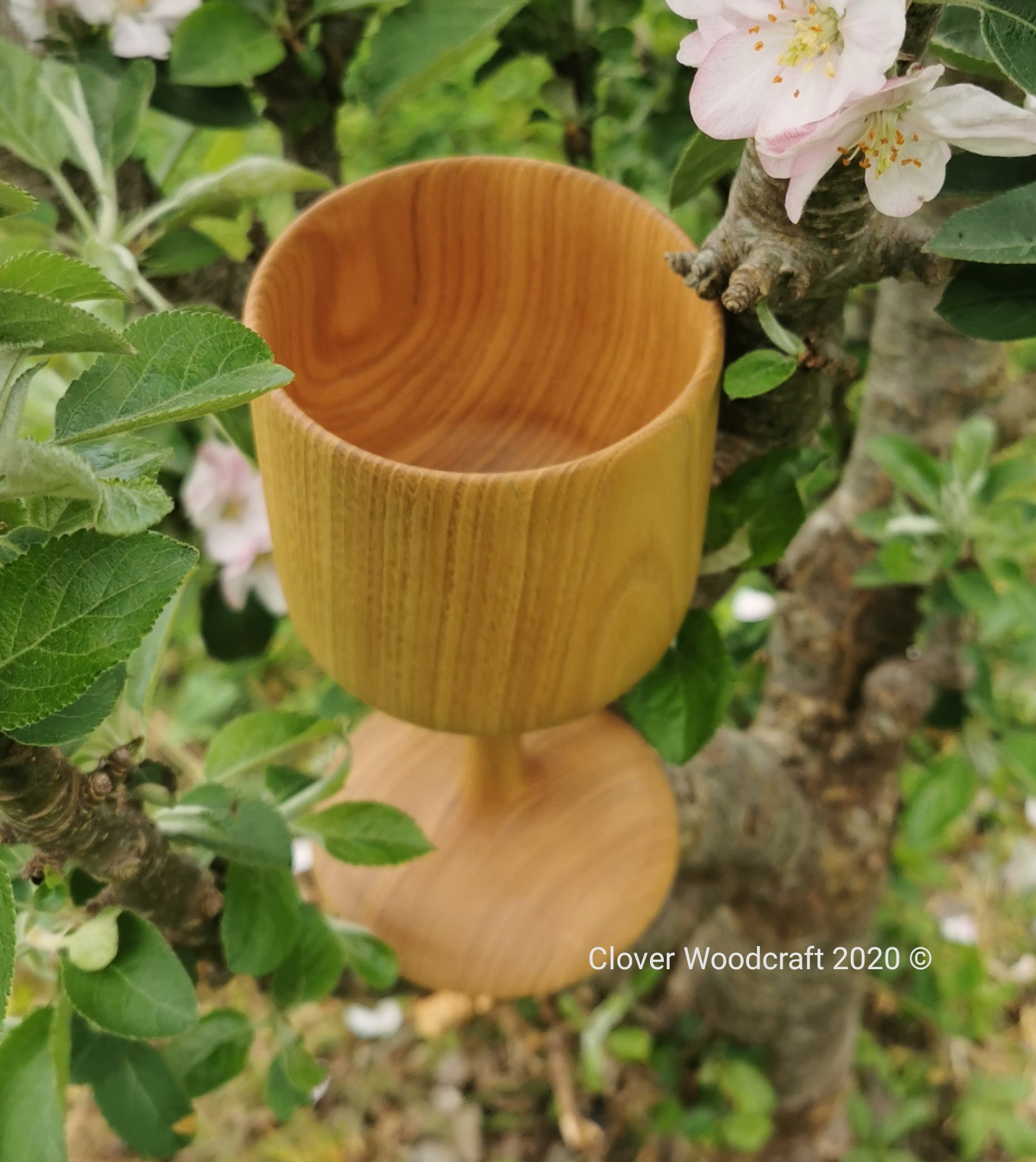 Spanish Chestnut  Wood Turned Goblet