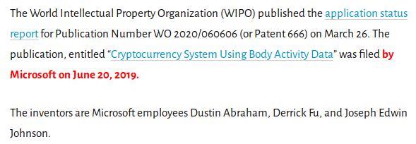 Bill Gates patent WO 2020-060606_Cryptocurrency systempng