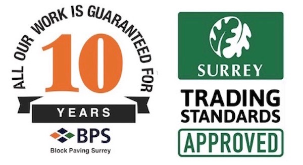 Block Paving Surrey Chobham are proud to be Surrey Trading Standards Approved. All our work is guaranteed for 10 years.