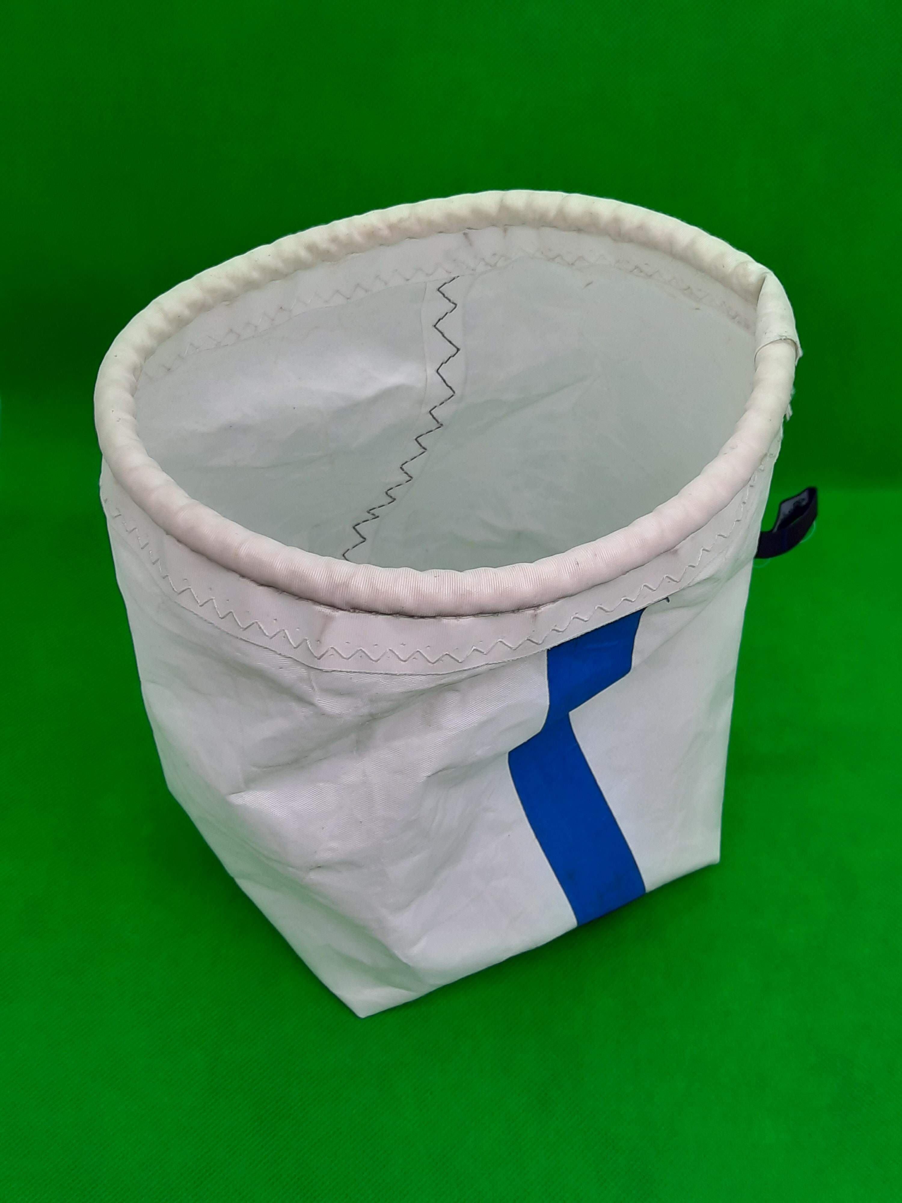 Storage bag with blue stripe
