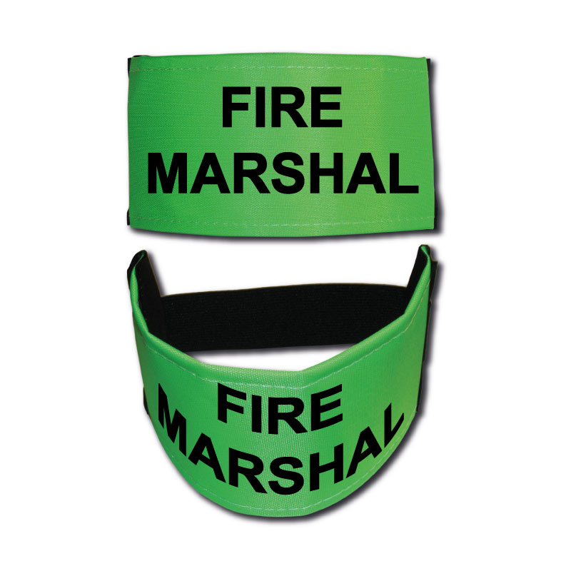 Fire Marshal Nylon Armbands