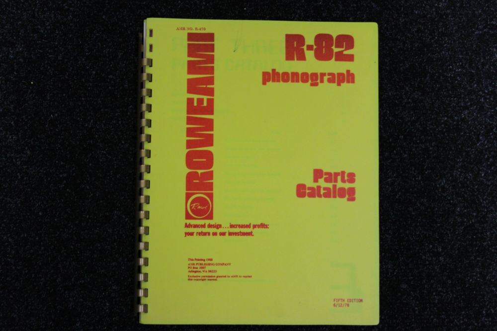 Rowe AMI - Parts Catalog - Model R-82