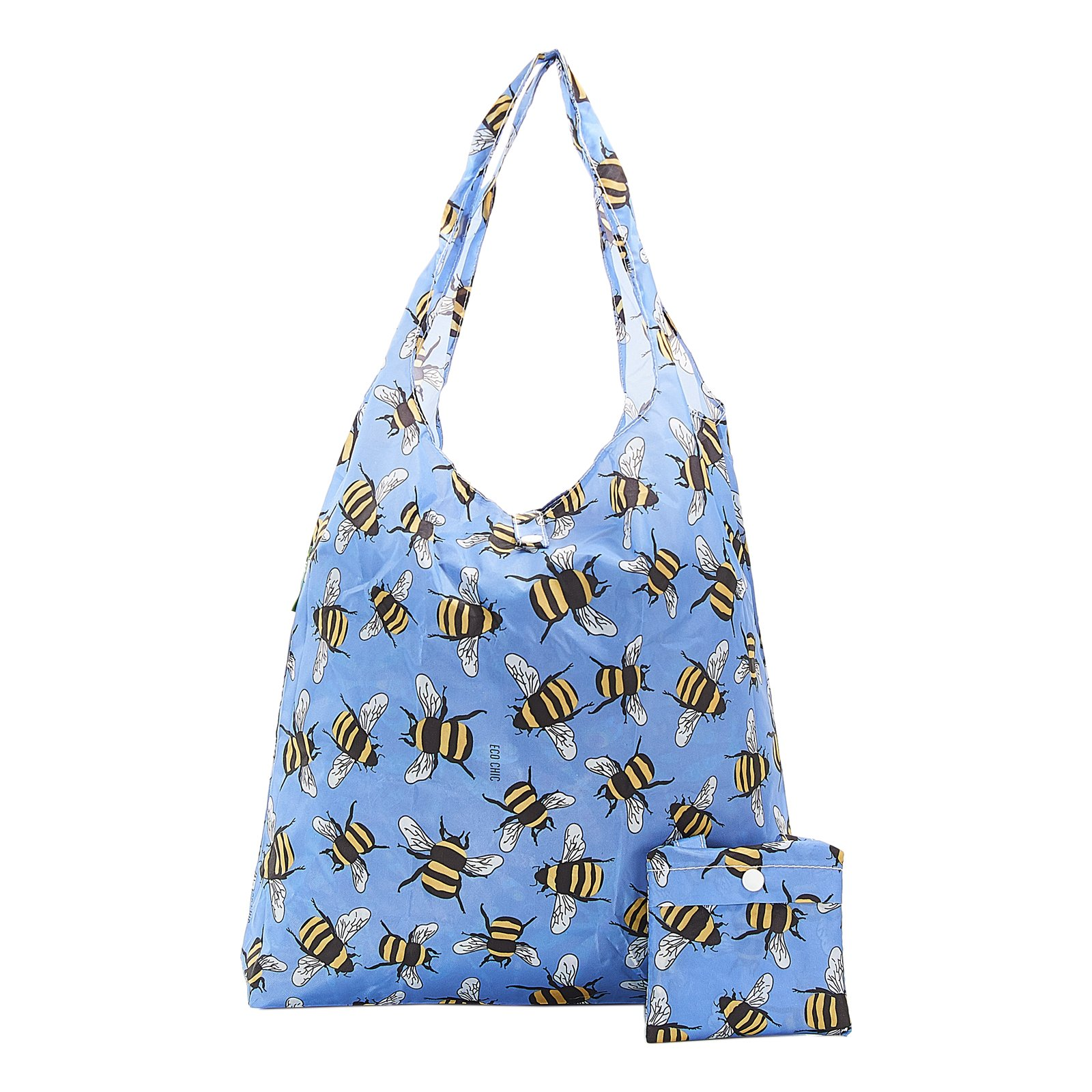 Eco Chic Lightweight Foldable Reusable Shopping Bag BEES