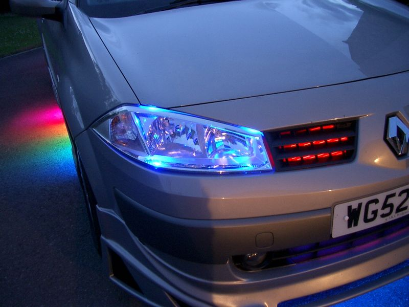 LED light displays for cars and lorries