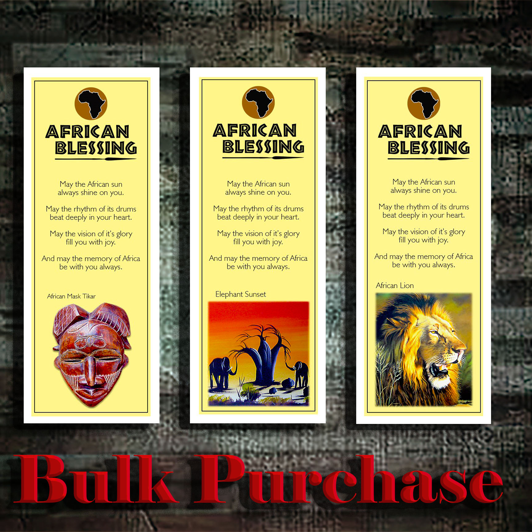 Y8 African Bookmarks (Bulk Purchase)