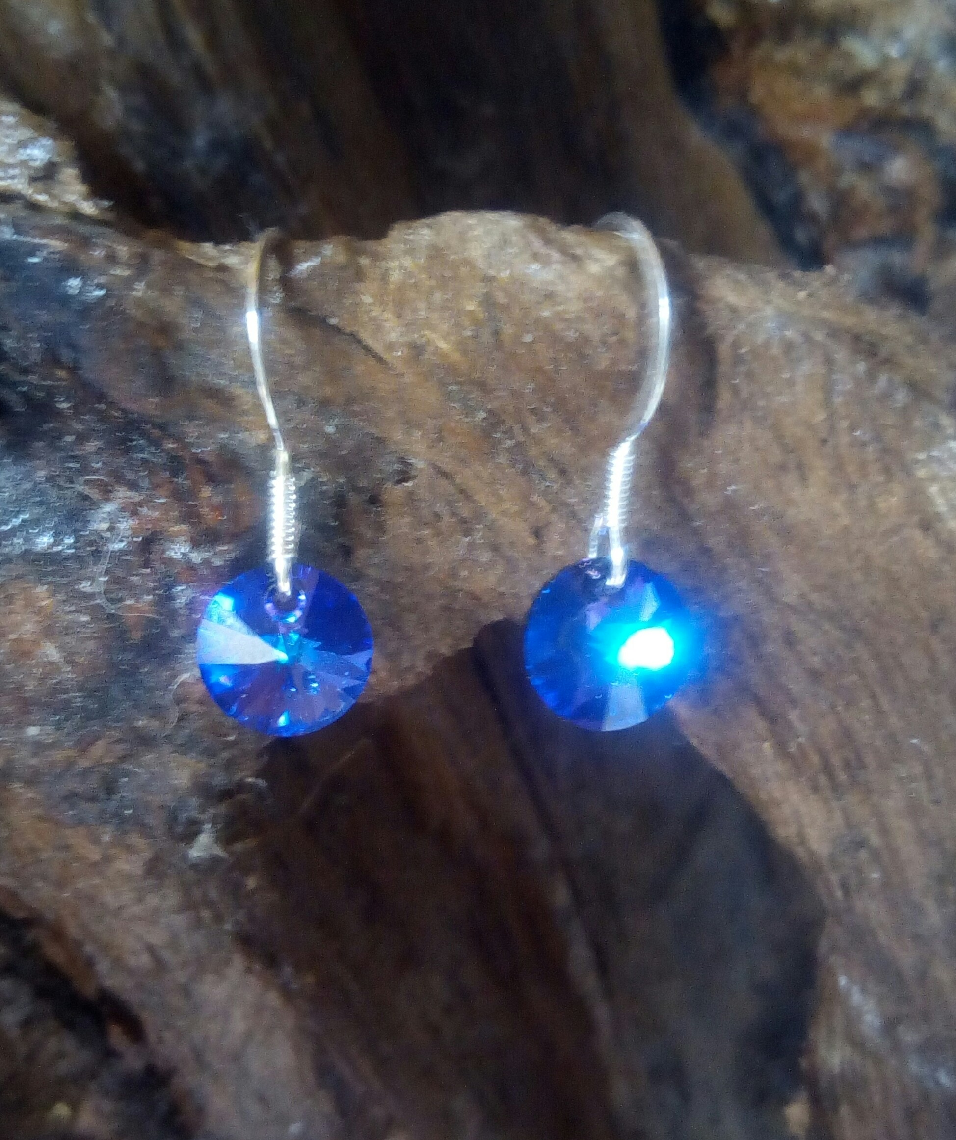 Sterling Sliver Earrings with Swarovski Crystal