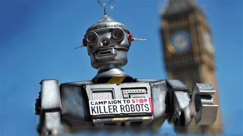 stop killer robots graphic