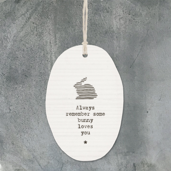 East Of India 'Some Bunny Loves You' Porcelain Hanger