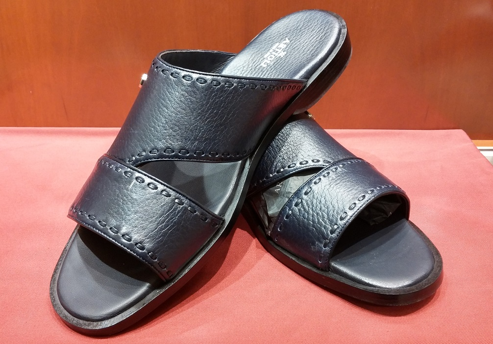 Sandal Style 70 Navy Leather