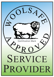 Woolsafe approved logo, Aaran Services FabricCare.ie is a Woolsafe Approved Service Provider for cleaning and treatment of wool rich and wool carpets